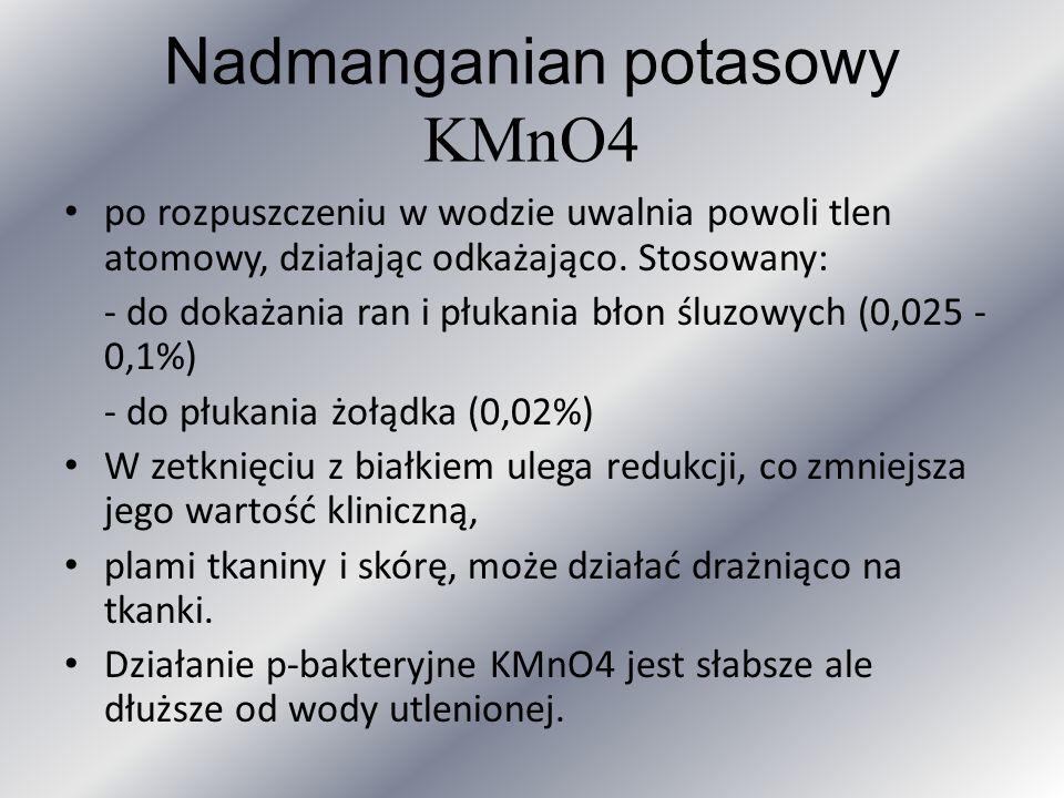 Nadmanganian potasowy KMnO4