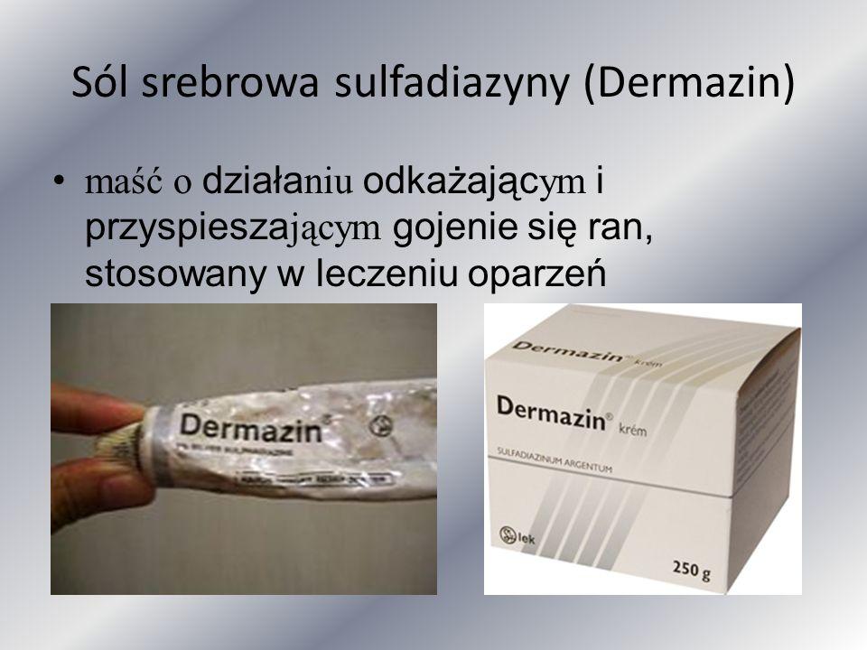 Sól srebrowa sulfadiazyny (Dermazin)