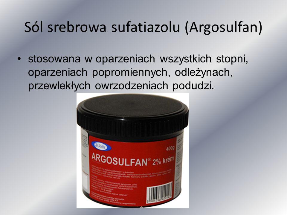 Sól srebrowa sufatiazolu (Argosulfan)