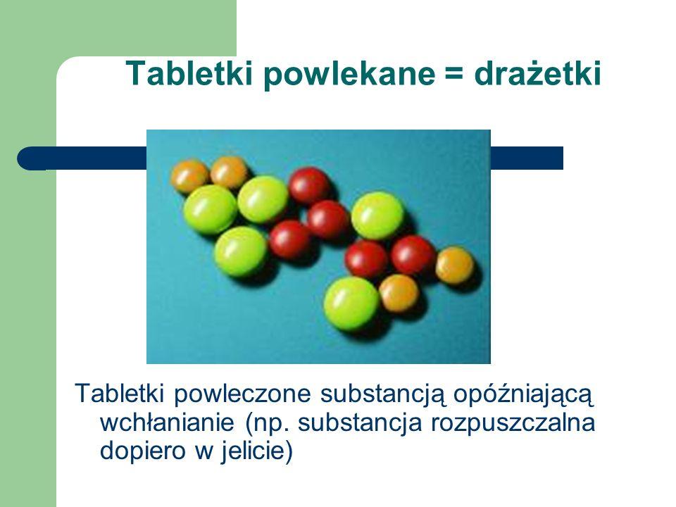 Tabletki powlekane = drażetki