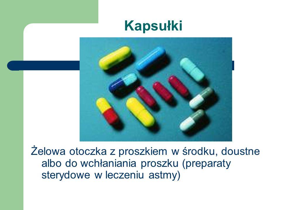 Kapsułki Żelowa otoczka z proszkiem w środku, doustne albo do wchłaniania proszku (preparaty sterydowe w leczeniu astmy)
