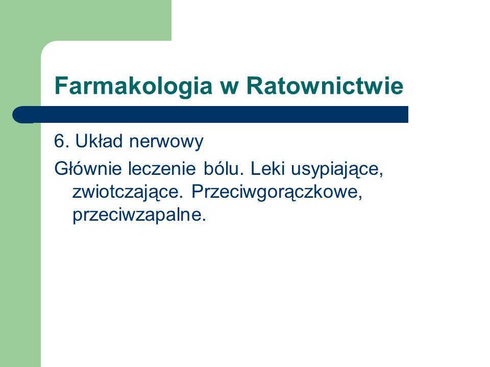 Farmakologia w Ratownictwie