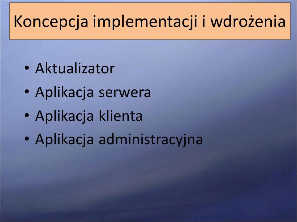 Koncepcja implementacji i wdrożenia