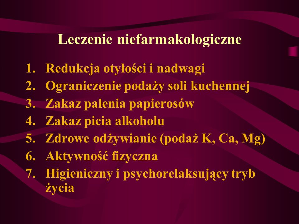 Leczenie niefarmakologiczne