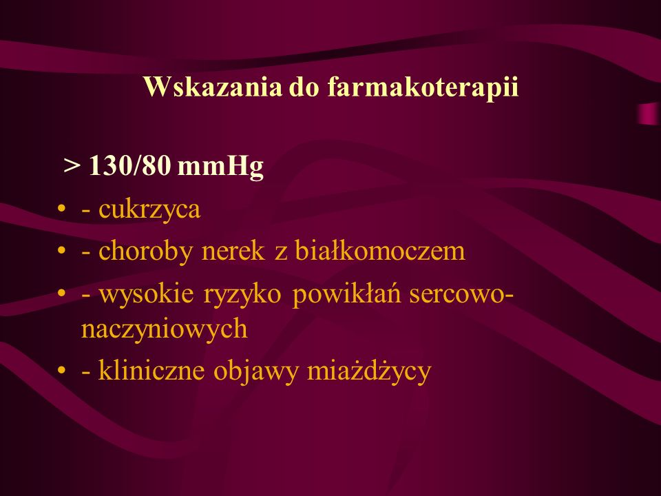 Wskazania do farmakoterapii