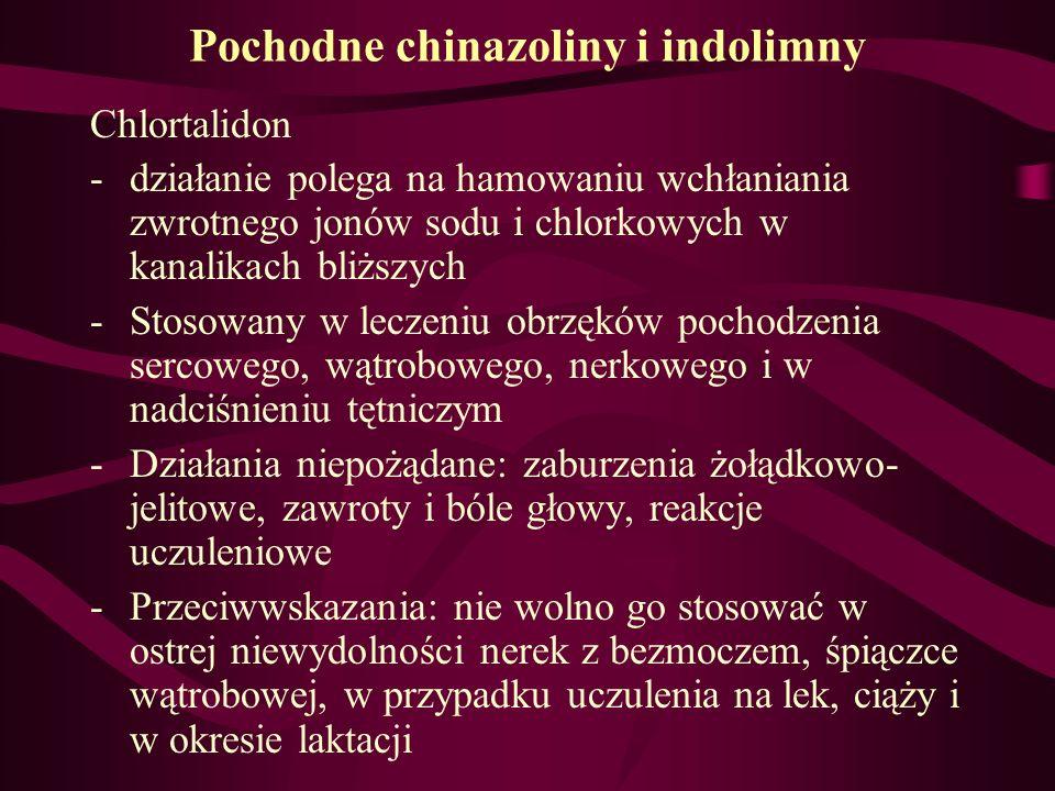Pochodne chinazoliny i indolimny
