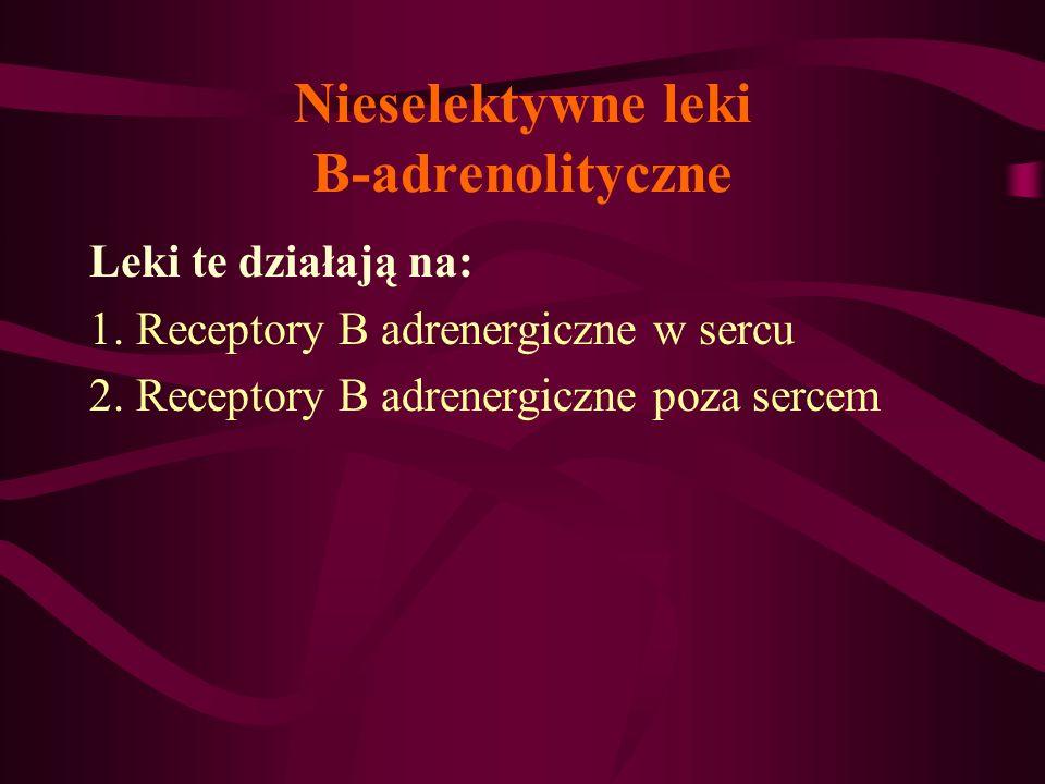 Nieselektywne leki B-adrenolityczne