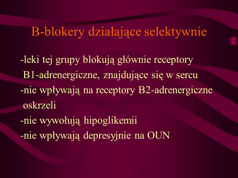 B-blokery działające selektywnie