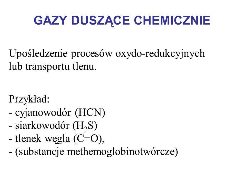GAZY DUSZĄCE CHEMICZNIE