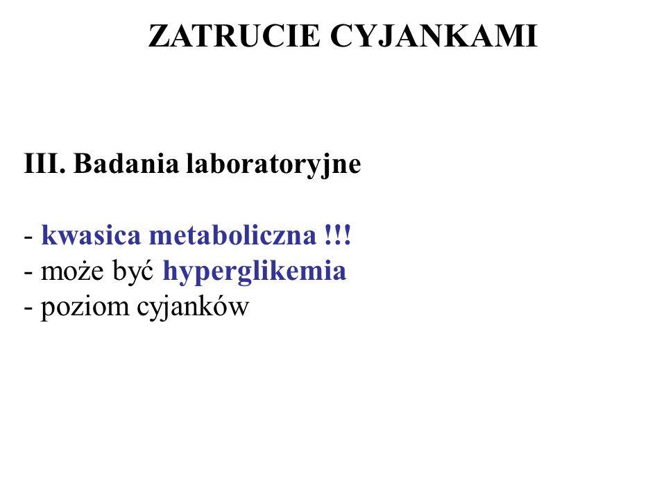 ZATRUCIE CYJANKAMI III. Badania laboratoryjne