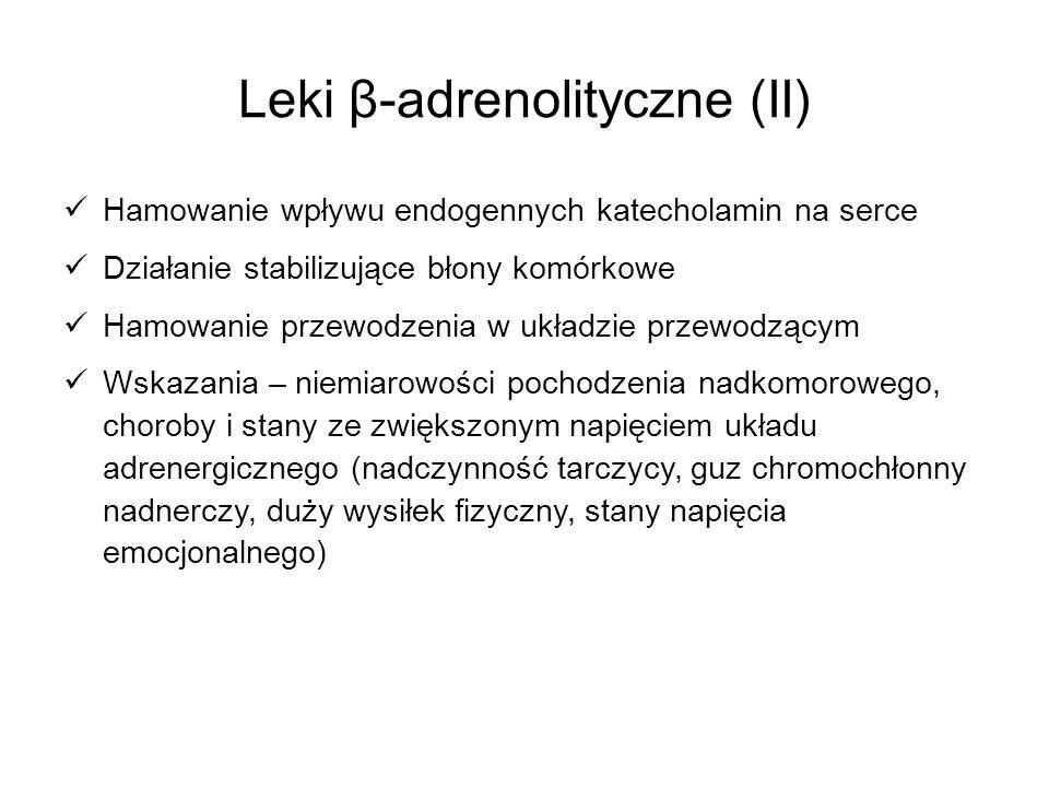 Leki β-adrenolityczne (II)