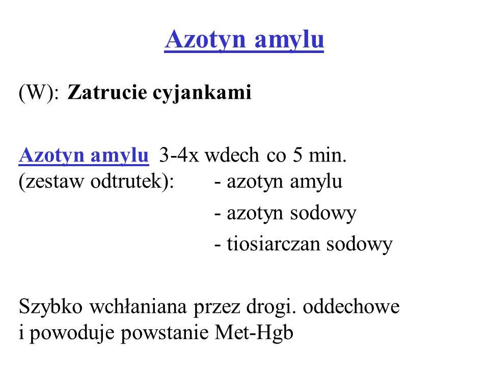 Azotyn amylu (W): Zatrucie cyjankami
