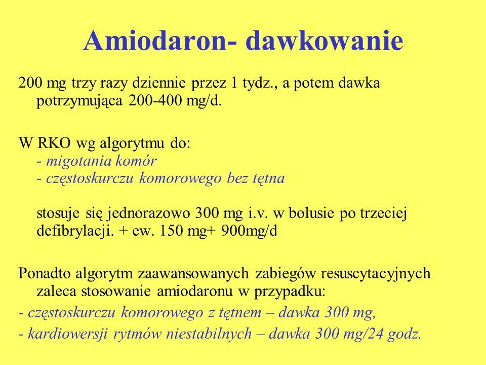 Amiodaron- dawkowanie