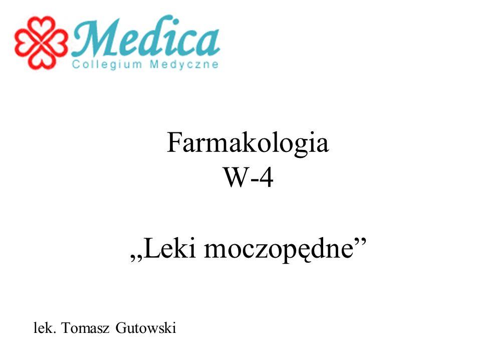 """Farmakologia W-4 """"Leki moczopędne"""