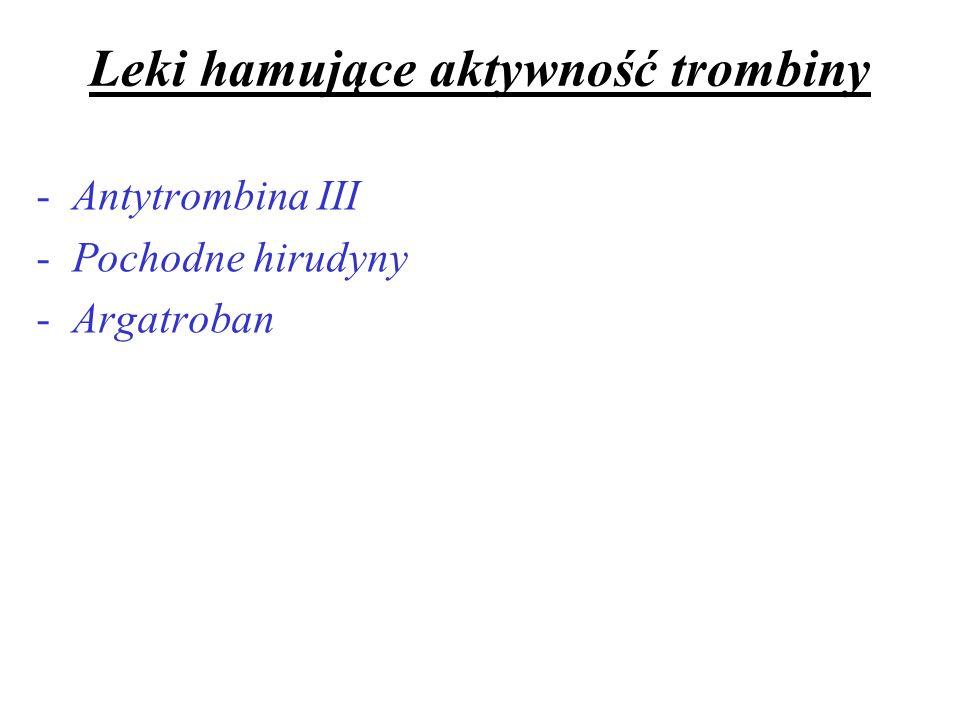Leki hamujące aktywność trombiny
