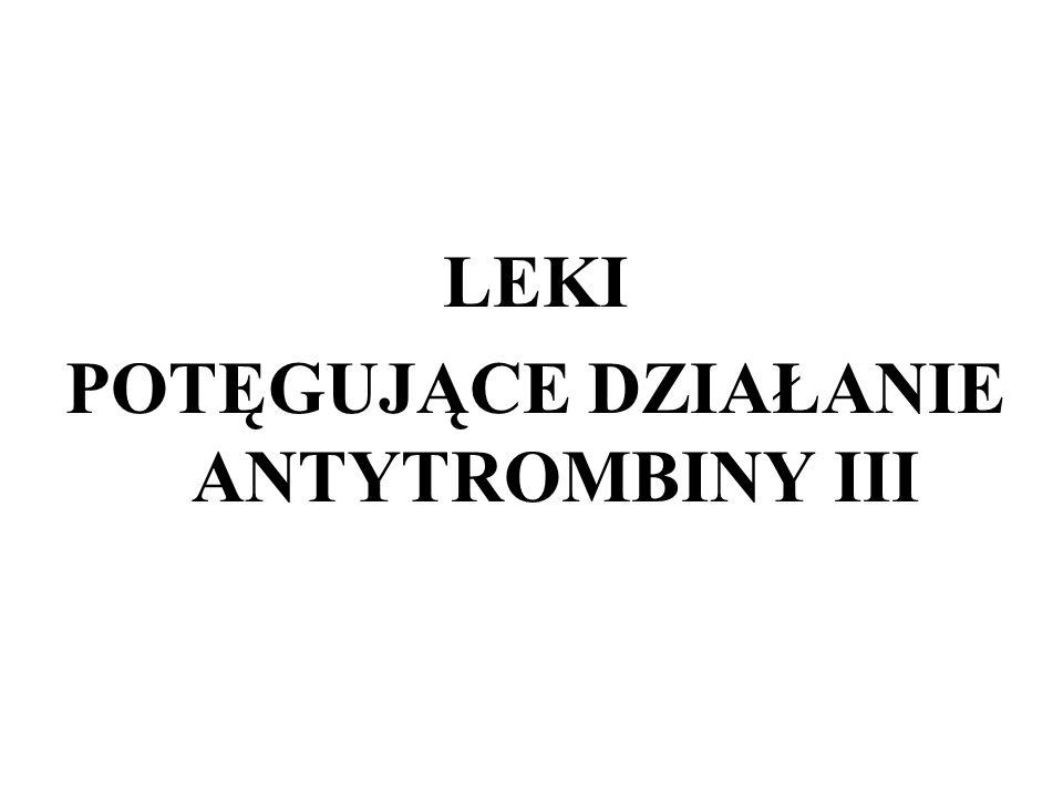 POTĘGUJĄCE DZIAŁANIE ANTYTROMBINY III