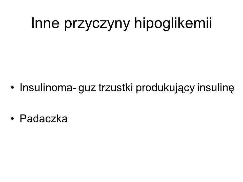 Inne przyczyny hipoglikemii