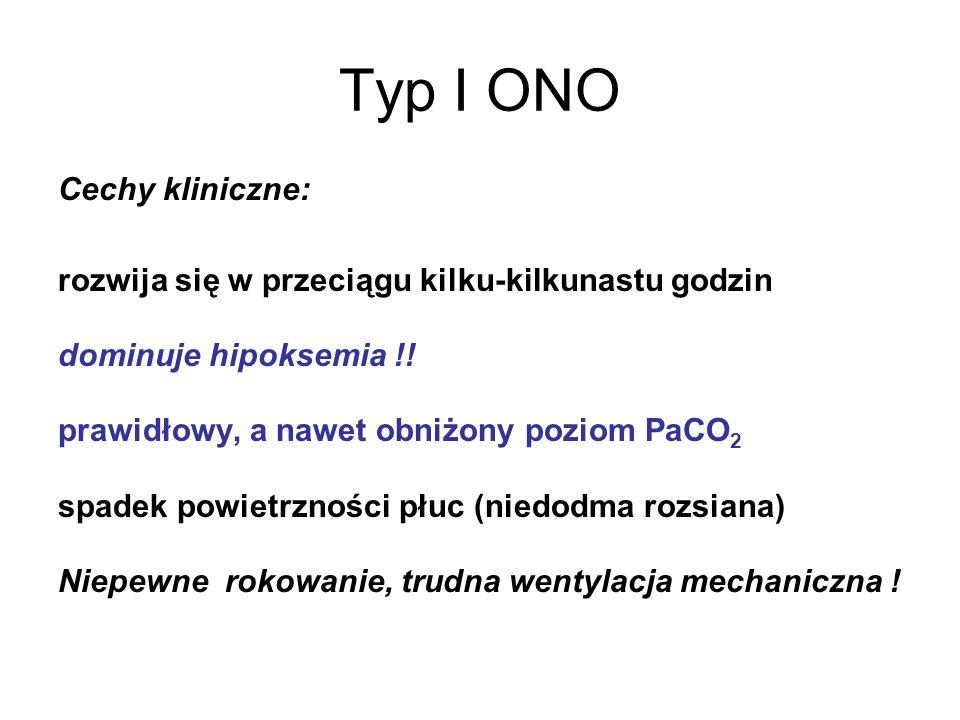 Typ I ONO Cechy kliniczne:
