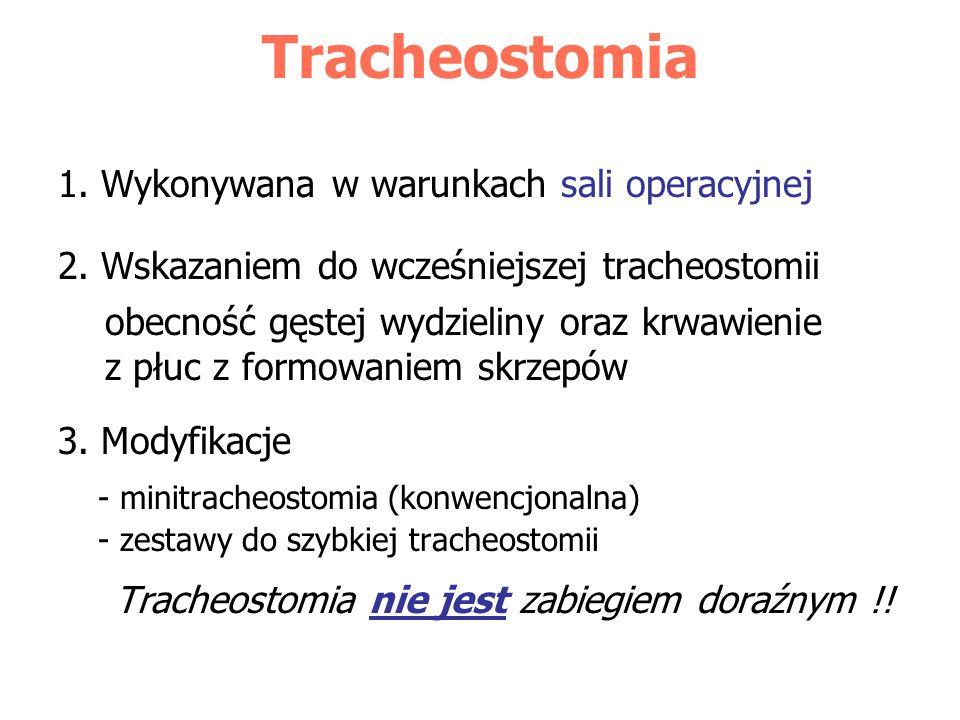 Tracheostomia nie jest zabiegiem doraźnym !!