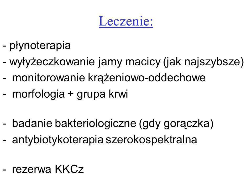 Leczenie: - płynoterapia