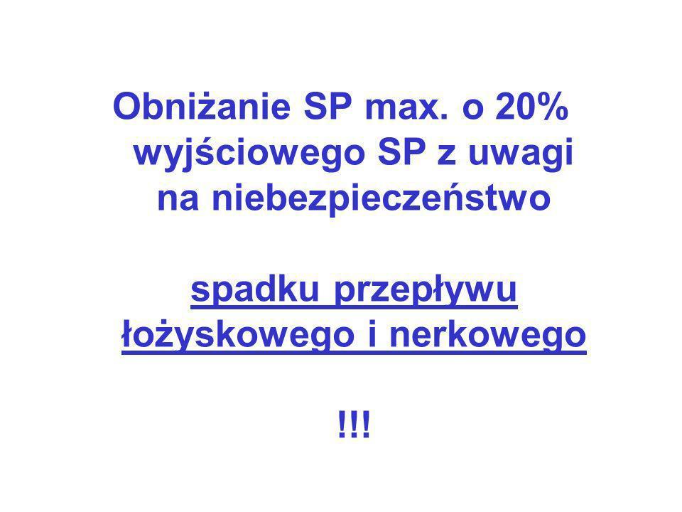 Obniżanie SP max.