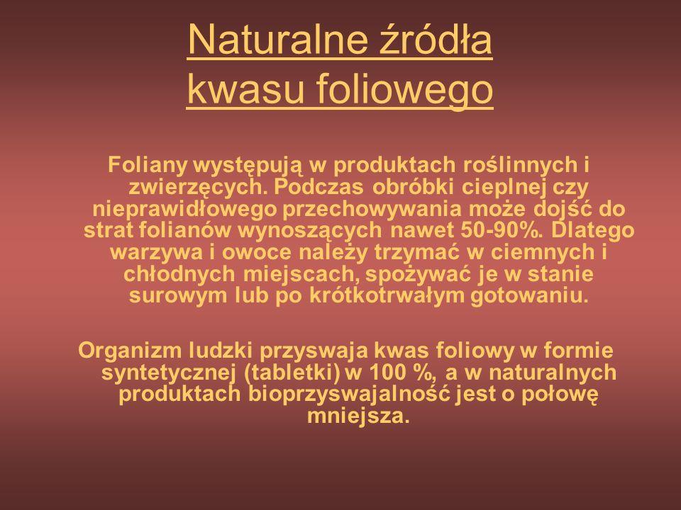Naturalne źródła kwasu foliowego