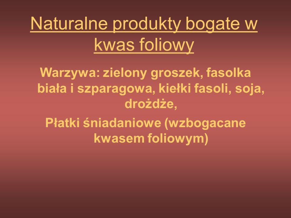 Naturalne produkty bogate w kwas foliowy
