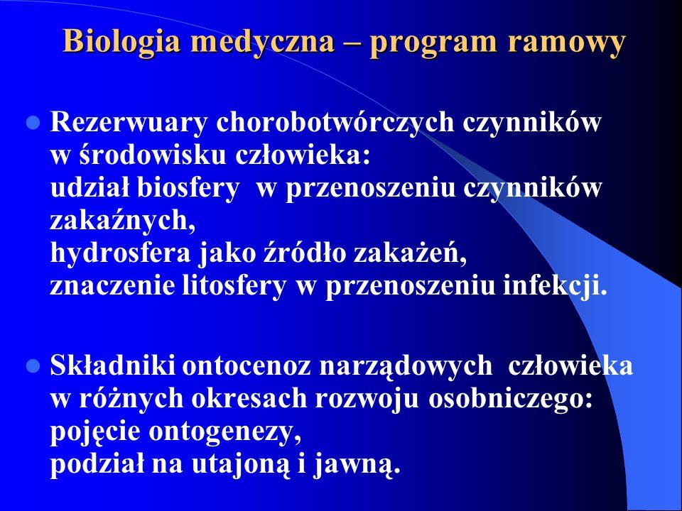Biologia medyczna – program ramowy