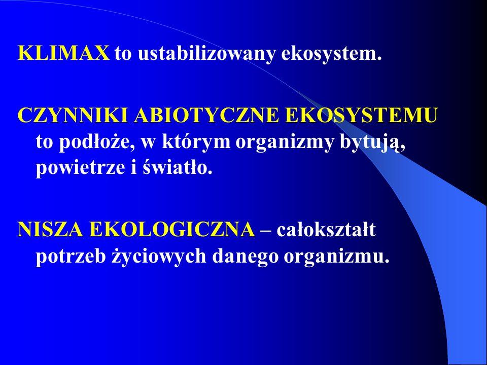 KLIMAX to ustabilizowany ekosystem.