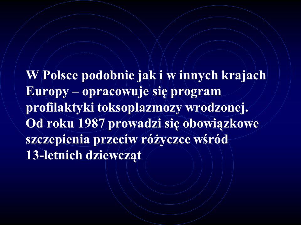 W Polsce podobnie jak i w innych krajach Europy – opracowuje się program profilaktyki toksoplazmozy wrodzonej.