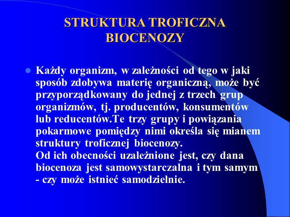 STRUKTURA TROFICZNA BIOCENOZY