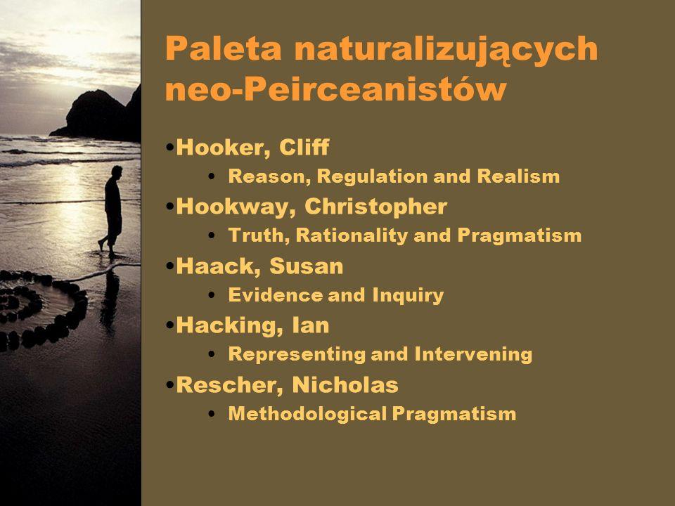 Paleta naturalizujących neo-Peirceanistów