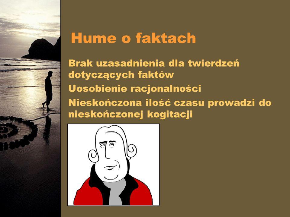 Hume o faktach Brak uzasadnienia dla twierdzeń dotyczących faktów