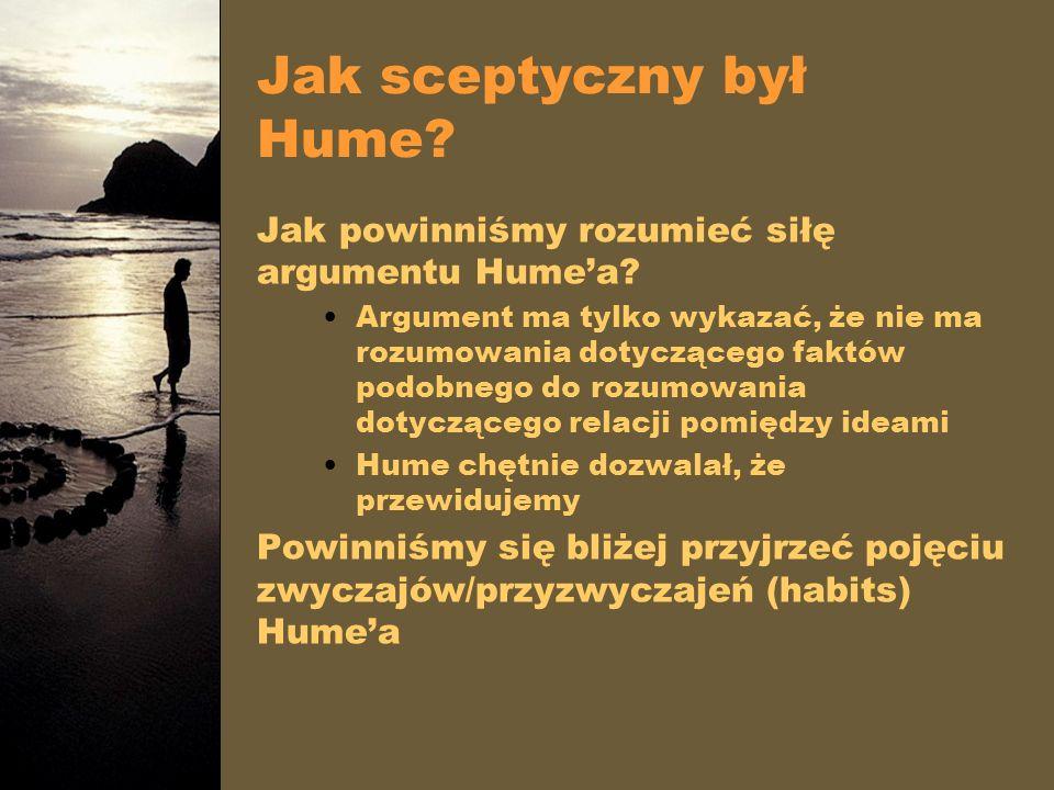 Jak sceptyczny był Hume