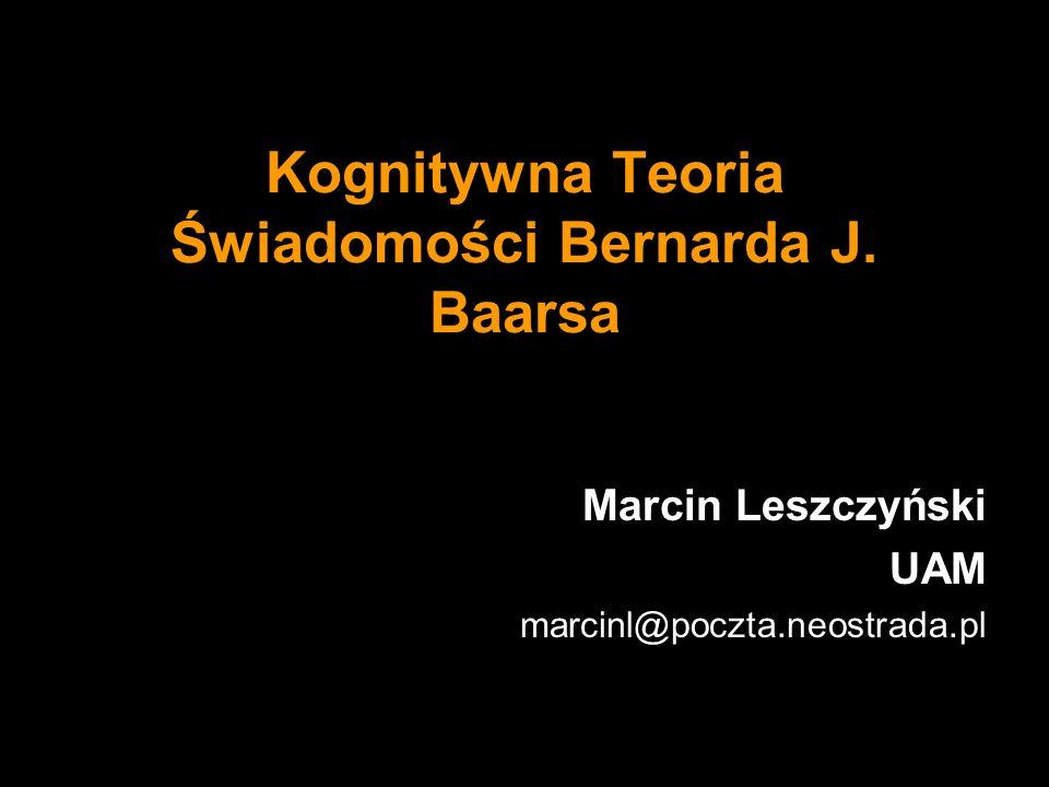 Kognitywna Teoria Świadomości Bernarda J. Baarsa