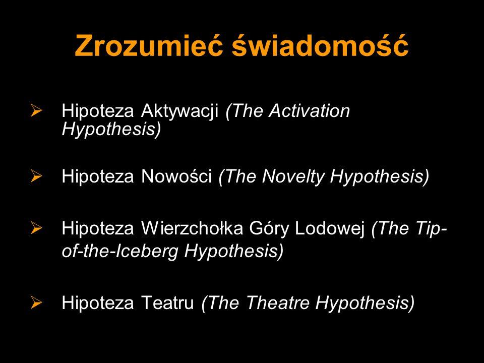 Zrozumieć świadomość Hipoteza Aktywacji (The Activation Hypothesis)