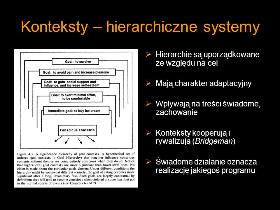 Konteksty – hierarchiczne systemy