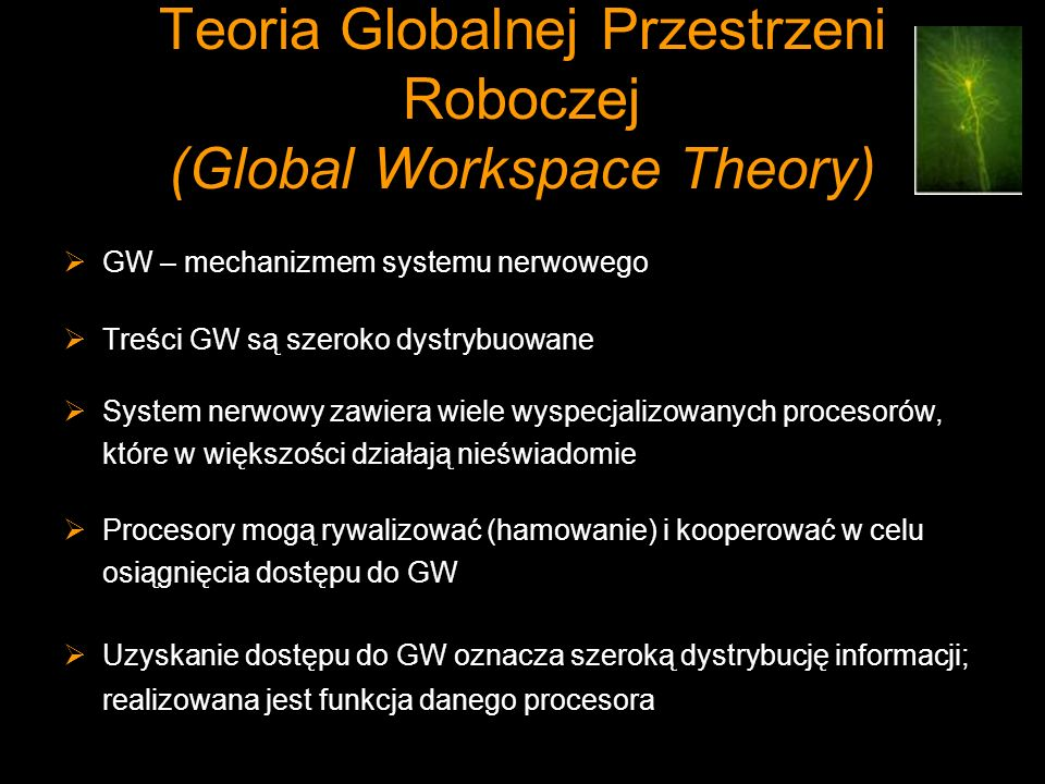 Teoria Globalnej Przestrzeni Roboczej (Global Workspace Theory)