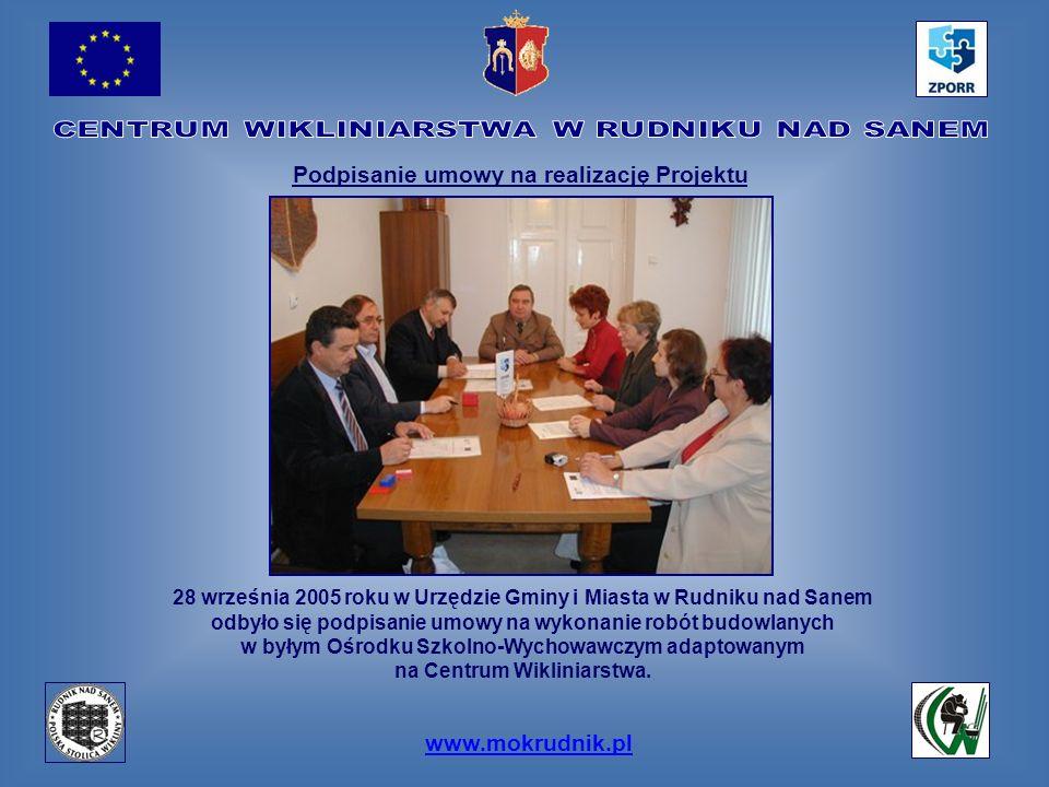 Podpisanie umowy na realizację Projektu www.mokrudnik.pl