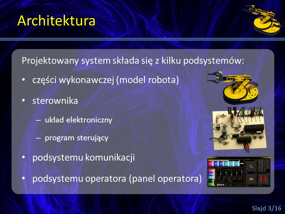 Architektura Projektowany system składa się z kilku podsystemów: