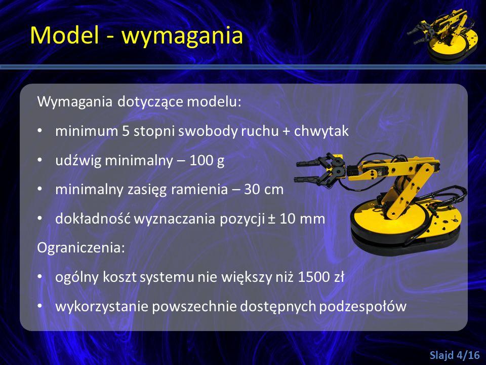 Model - wymagania Wymagania dotyczące modelu: