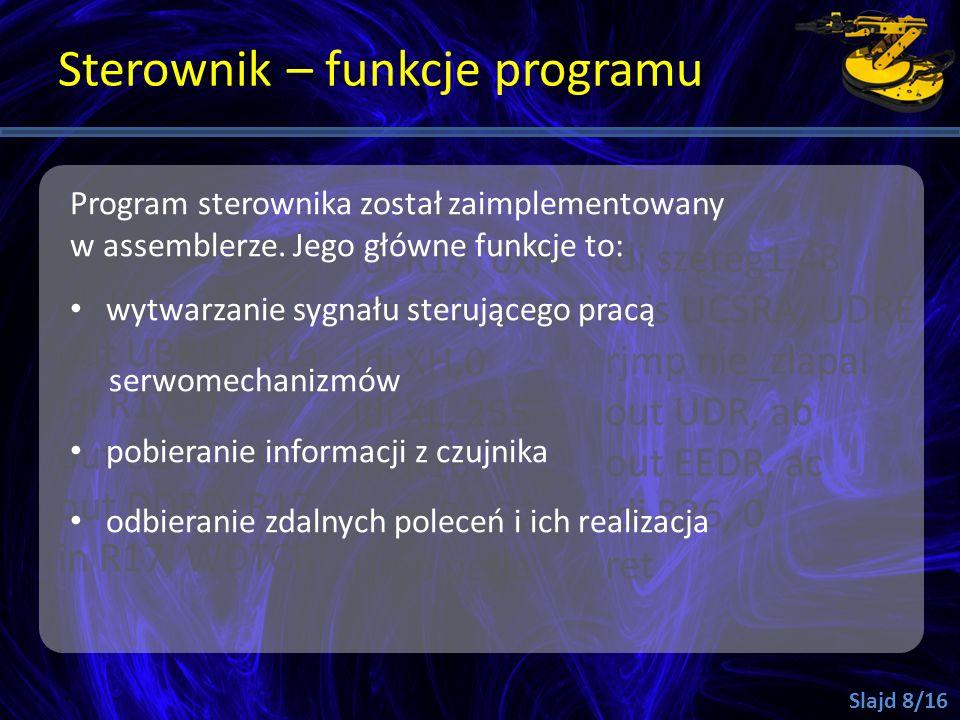 Sterownik – funkcje programu
