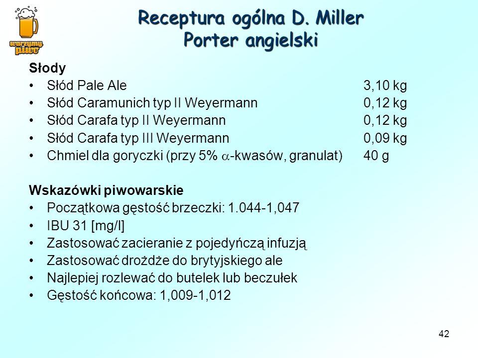 Receptura ogólna D. Miller Porter angielski