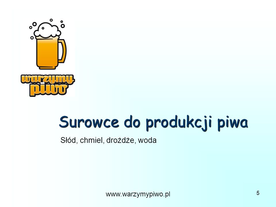 Surowce do produkcji piwa