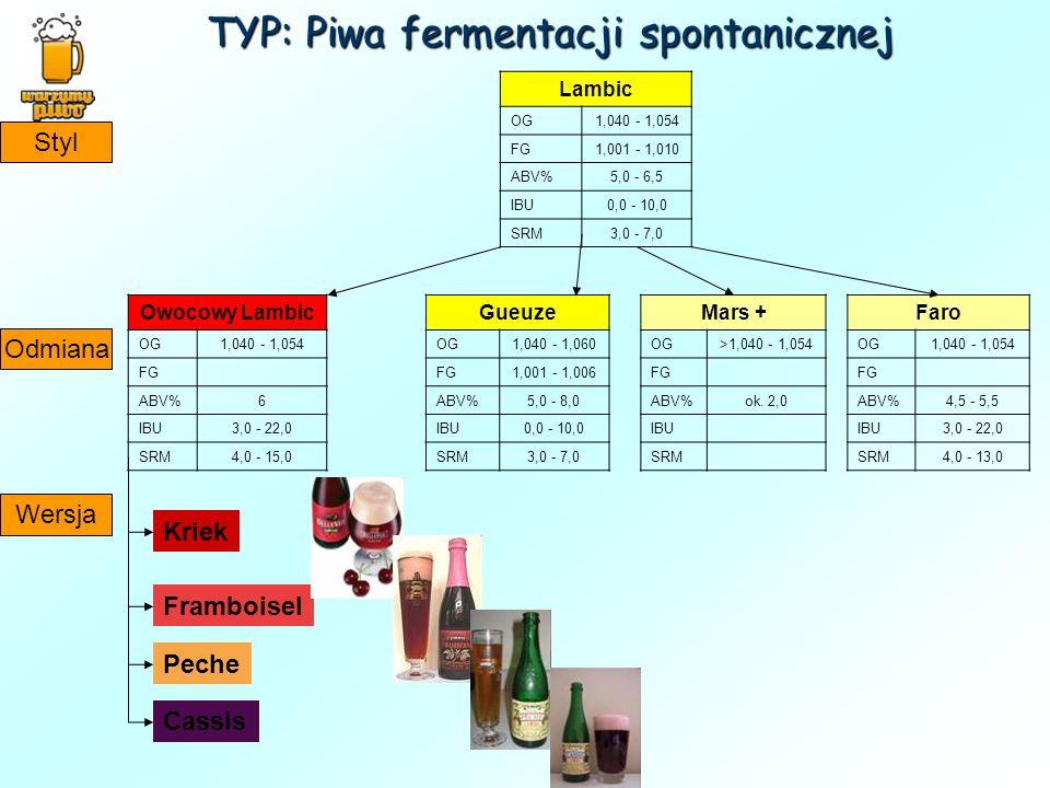 TYP: Piwa fermentacji spontanicznej