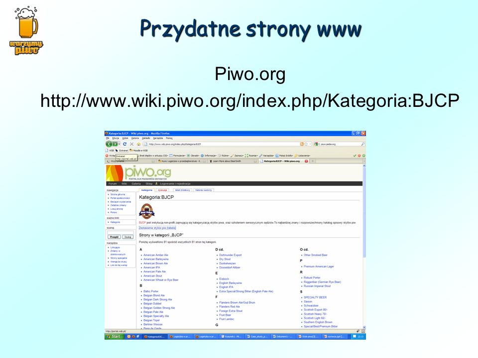 Piwo.org http://www.wiki.piwo.org/index.php/Kategoria:BJCP