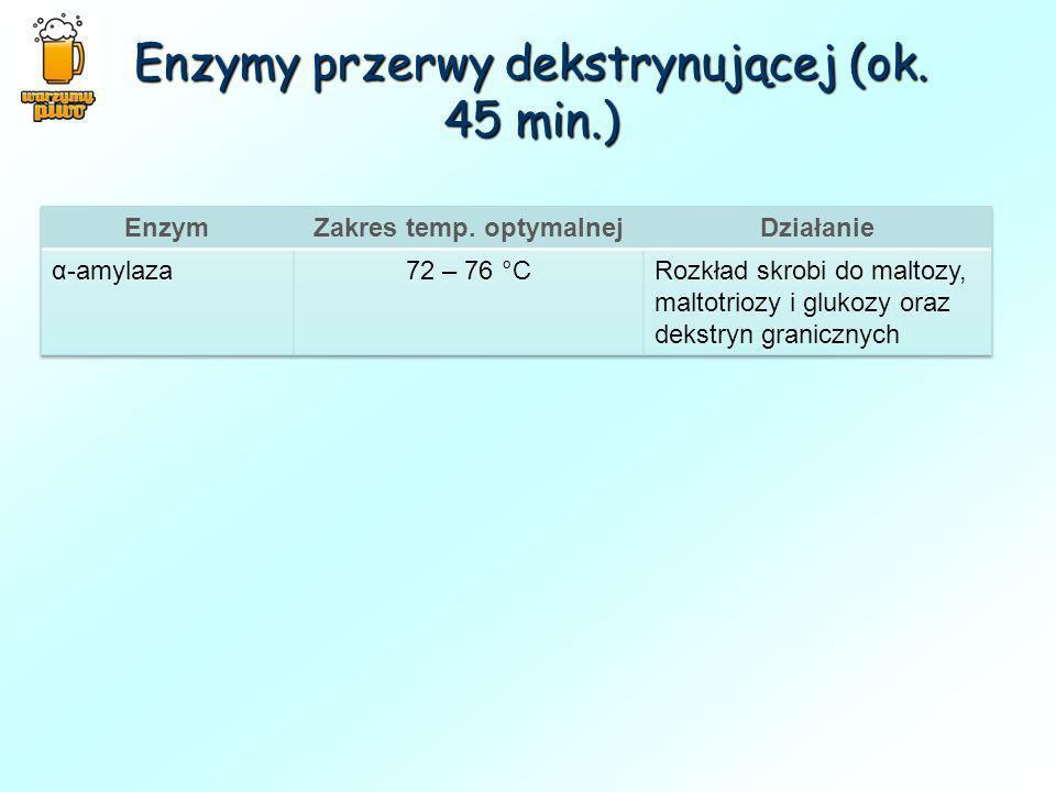Enzymy przerwy dekstrynującej (ok. 45 min.)