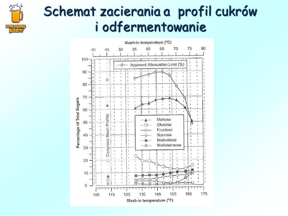 Schemat zacierania a profil cukrów i odfermentowanie