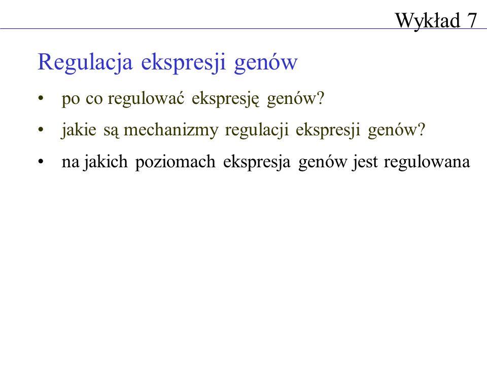 Regulacja ekspresji genów