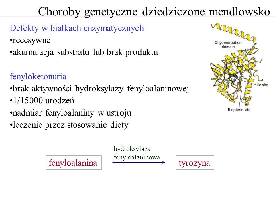 Choroby genetyczne dziedziczone mendlowsko